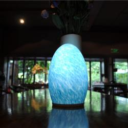 china Glass Classic Cordless Decorative Lamps for KTV Room TML-G01E manufacturer