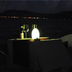 china Tower Shape Handmade Glass Lamp for 5 Star Hotel TML-G01E manufacturer