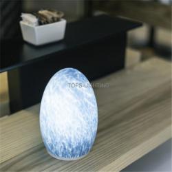 china     bateria estilo europeu operado vidro pintado à mão deco lâmpada lâmpada de mesa recarregável    do fabricante