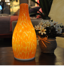 Handblown glass battery operated Modern style bottle shape color changeable mood lamp