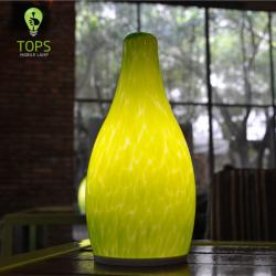Green Glass Antique Decorative Hotel LED Lamp
