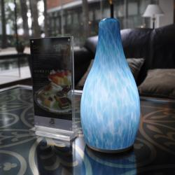 china Blue Glass Antique Dimming LED Table Lamp proveedor