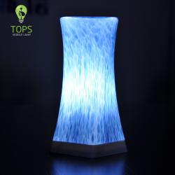 china Tops Iluminação LED Restaurante Mesa de Luz Atacado Feito à Mão de vidro Sombra RGB Lamp do fabricante