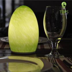 Tops Iluminación Verde Color de 60 horas de tiempo de iluminación LED Lámpara de mesa Bluetooth