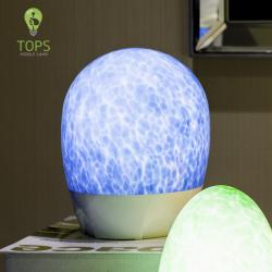 china Hand Made Glass Mottled Pattern Decorative Uplight Floor Lamp manufacturer