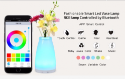 china RGB Batteries operated Cordless Mood Vase Energy Saving outside camping light Lamp for Restaurants manufacturer