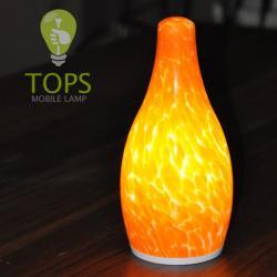 Blue Cordless Table Lamp