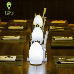 china Tops Lighting Art and Technology Skillfully Processed Rechargeable LED Restaurant Lamp manufacturer