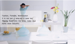 Bluetooth control RGB Cordless Mood Vase Energy Saving eco-friendly Lamp for Restaurants or hotels