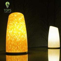 china Tops Lighting China Factory Direct Stable Quality Blown Glass Hospitality Decoration Table Lamp manufacturer