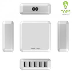 Universal QC 2.0 Fast 5 Port USB Charger Wall Multi Use for Home Office Travel