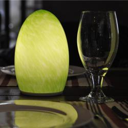 china Hand blown glass LED cordless lamp rechargeable table Lamp for luxury hotel, restuarant, bar manufacturer