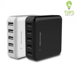 Cina Universal QC 2.0 Fast 5 Port USB Charger Wall Multi Use for Home Office Travel produttore
