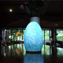 china 3000MA 1.5W lâmpada sem fio lâmpada portátil ovo dimmable levou candeeiro de mesa hotel do fabricante