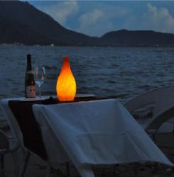 Battery Morden outside garden camping led lights Cordless western table lamp candle led light