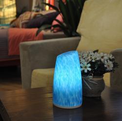 New levou produtos Recharg sem fio leitura lâmpada mesa restaurante levou velas