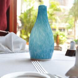 القابلة لإعادة الشحن مصباح زجاج طاولة اللاسلكية المصابيح المزخرفة