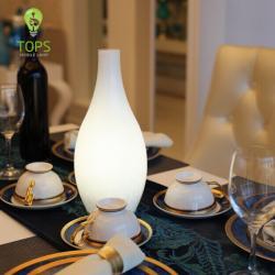 Tops illuminazione stile europeo a LED Dimming Lampada da tavolo Migliore per Restaurant Utilizzo