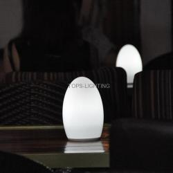 2014 New Fashion rechargeable cordless led lamps with 12V Led Bulb in glass material
