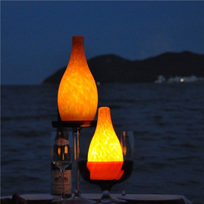 china Eco-friendly Wireless Desk Lamp LED Candle Light for Beach TML-G01B supplier