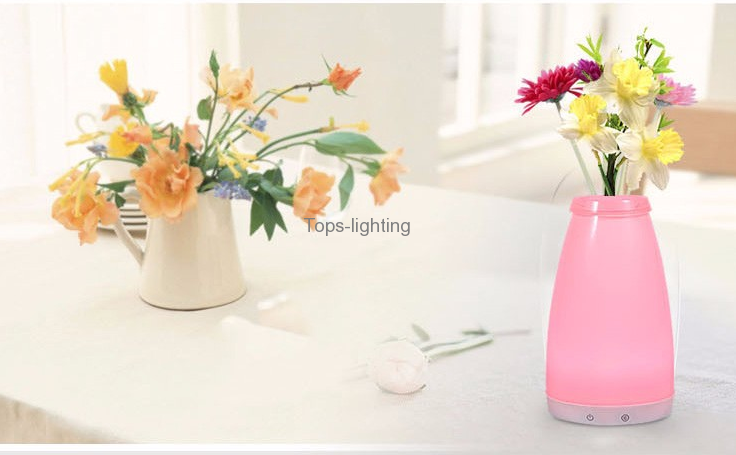 china RGB batteries operated modern Cordless Mood Vase Energy Saving Lamp for Restaurants and hotels decoration supplier