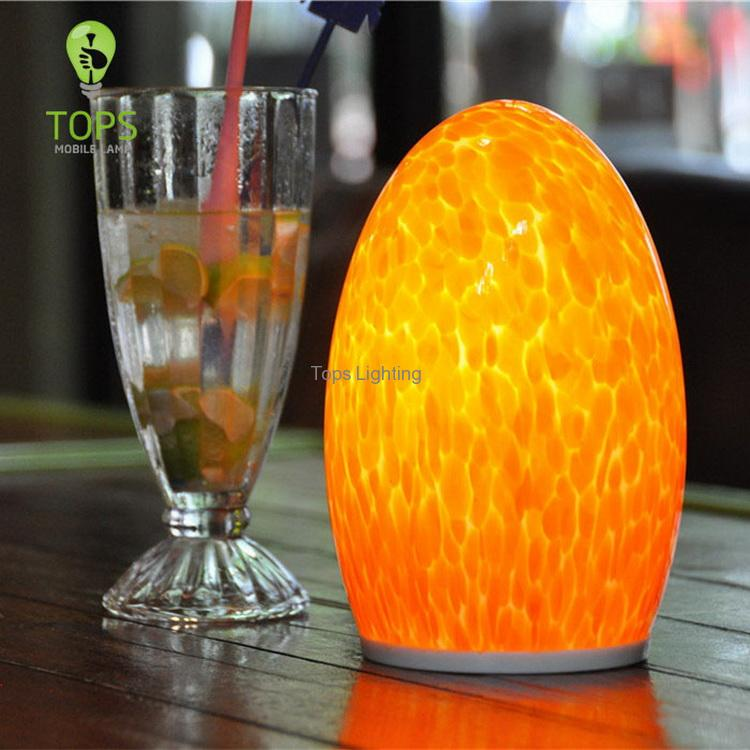 china Modern Design 1.5W Remote Control Glass Table Lamp supplier