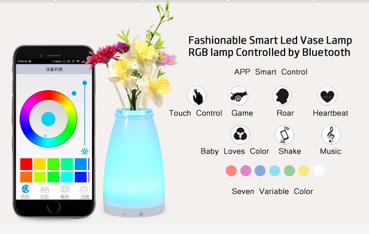 china RGB Cordless Mood Vase Energy Saving color changeable Lamp for Restaurants decoration supplier
