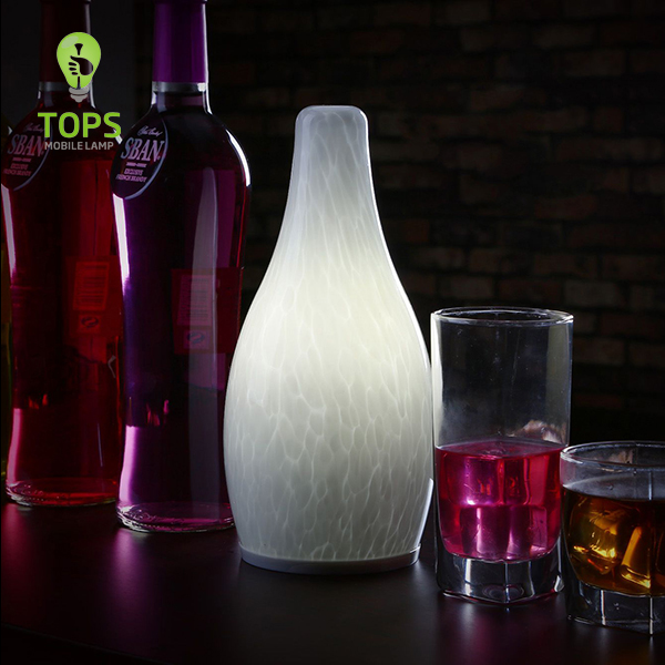 china TML-G01SH Bottle Shape Modern Style LED Standing Lamp with 4000mAh Lithium Rechargeable Battery supplier