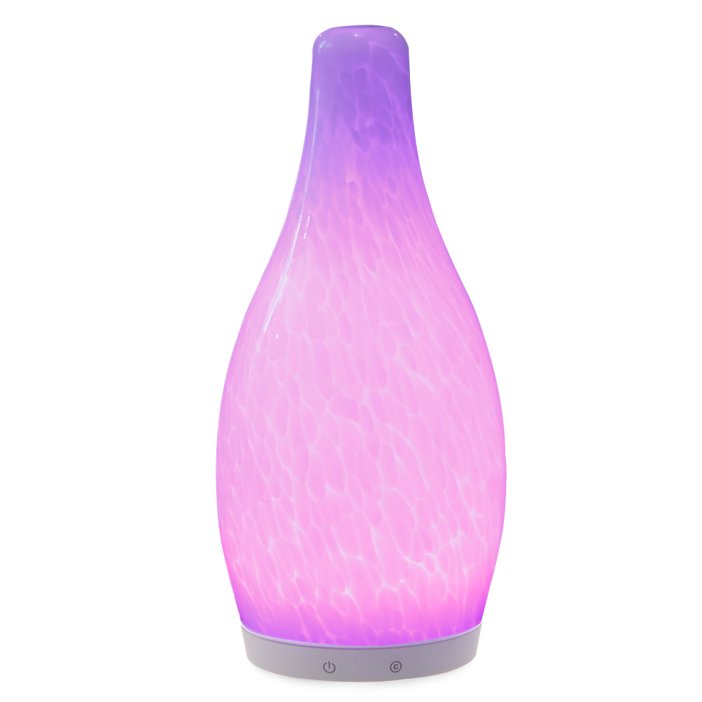 china Handblown glass battery operated Modern style bottle shape color changeable mood lamp supplier