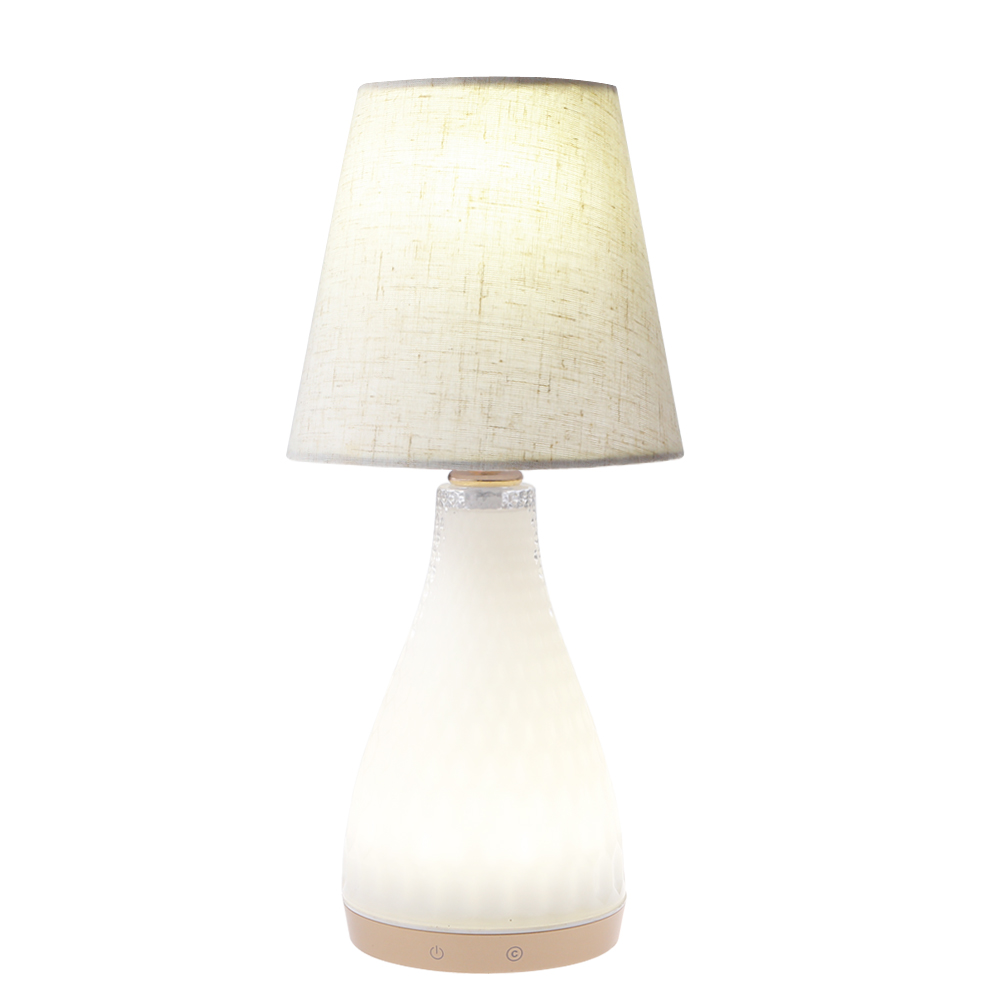 china Modern design white jade light desk lamp LED battery operated rechargeable table light desk lamp study lamp infrare control proveedor