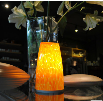 china Star Hotel resorts projects decorative high quality handblown grass Rechargeable Battery LED Table Lamp supplier