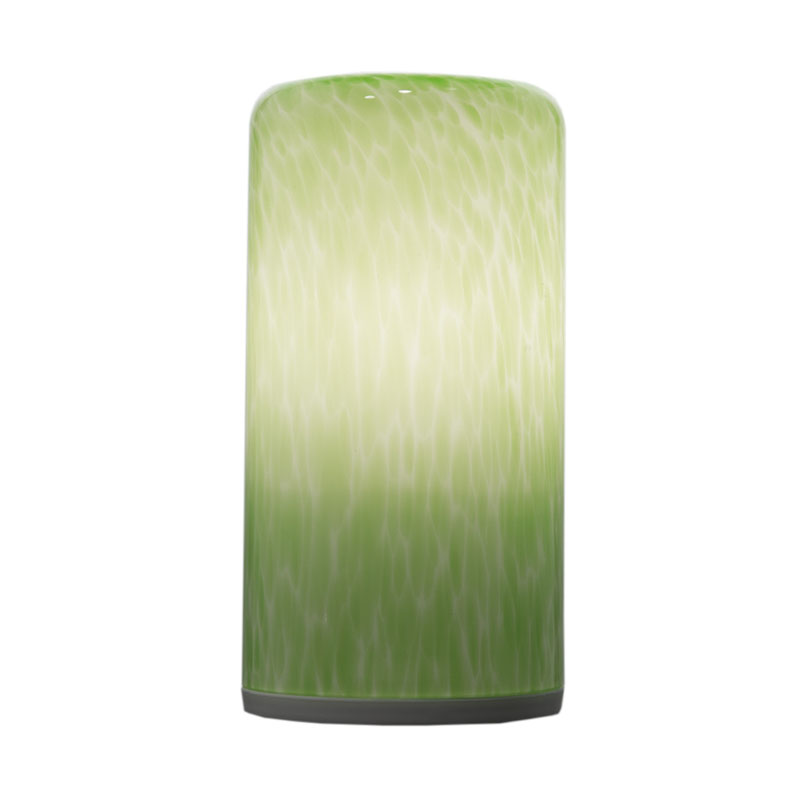 china Antique Green Glass Cylinder LED Cordless Decoration Lamp supplier