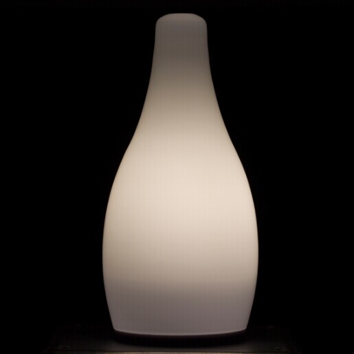 china Pure White Glass Electric Candle Lamp supplier