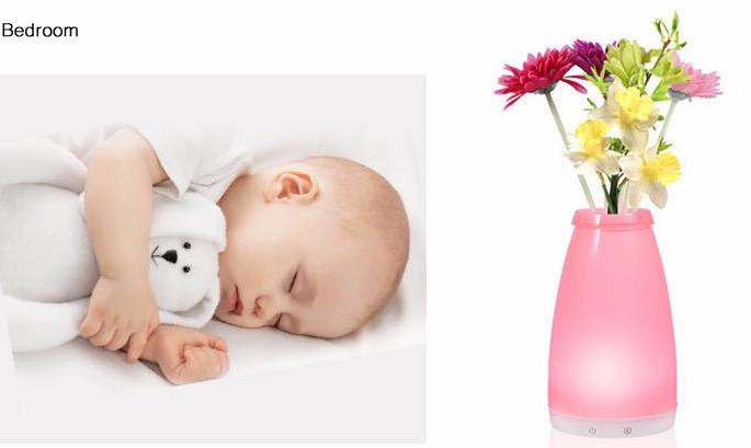 china Bluetooth control RGB Cordless Mood Vase Energy Saving eco-friendly Lamp for Restaurants or hotels proveedor