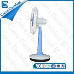Fournisseur Chine AC / DC Duty plastique petit bureau Top Fans avec 18 lampes LED Couleurs option OEM autorisés ADC- 12V16A2