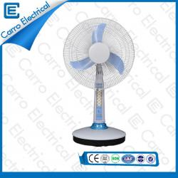 New Design Popular Rechargeable Battery Powered Table Fan with LED Light Long Working Time CE-12V16A