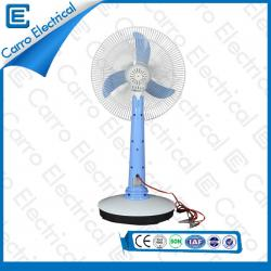 OEM Welcomed High Rotation Speed Solar Rechargeable DC Table Fan with LED Lamp High Quality CE-12V16A2