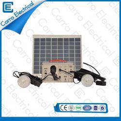 Mejor Sistema Solar Eléctrico DC portátil 10W de calidad con 5 m de línea de potencia de Protección Ambiental CES- 1205