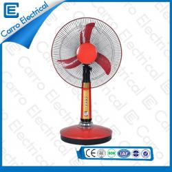 china Professional High Quality 12V 15W Blue and Red Solar DC Motor Retro Table Fan with Timer Function DC-12V16A manufacturer
