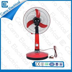High Quality 12V 15W Blue and Red Solar Powered Table Fan Quiet with Timer Function Convenient Carrying DC-12V16A