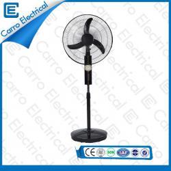 china Multi-color Energy Saving 12V DC Pedestal Standing Fan with Light Long Life Time DC-12V16K supplier