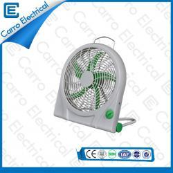 china Box Fan AC DC 12 volts transporte conveniente 10 polegadas Lâmina Fan ABS longo tempo Material Vida fornecedor