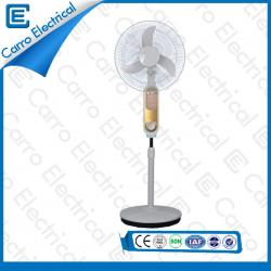china New modern DC solar LED rechargeable fan with battery CE-12V16K7 manufacturer