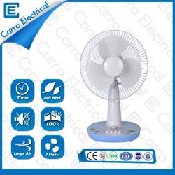 china Good looking and low power ac dc double desk fan with timer ADC-12V12G2 manufacturer