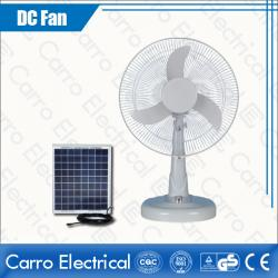 Factory direct sell 12v 16inch white dc solar table fan DC-12V16M3