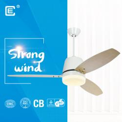 china 220V 52 inch ceiling fan with light and remote and Bluetooth app do fabricante