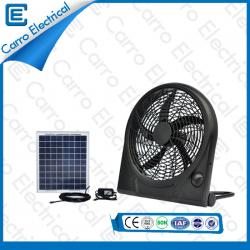 Portable Solar Box Fan Cool 3 Levels Wind Design Environmental Protection CE-12V10Q