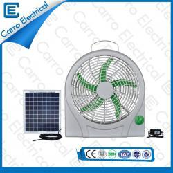 AC DC Box Fan 12 Volt Convenient Carrying 10 Inches Fan Blade ABS Material Long Life Time