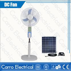 New main model dc motor dc solar stand fan with led light DC-12V16B3