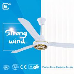 china AC/DC solar fan company directly 36W ceiling fan with brushless motor constructeur